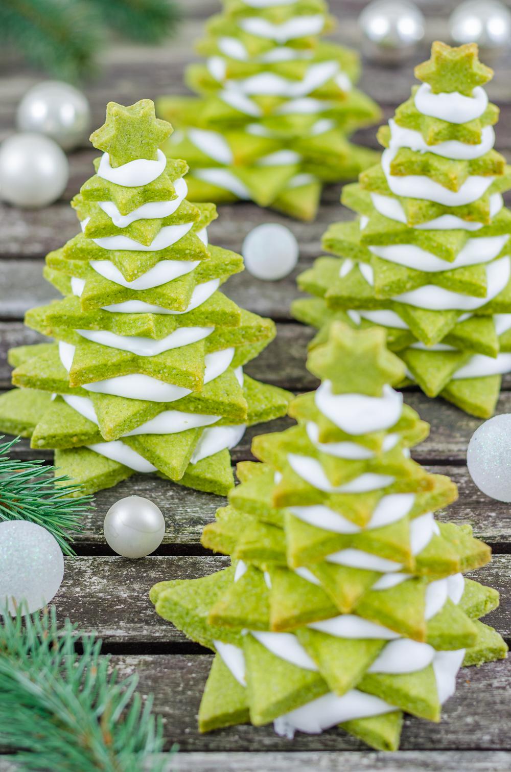 Tannenbaum Aus Plätzchen.Food Blogger Adventskalender Matcha Plätzchen Tannenbäume Plus